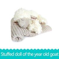 Wholesale Animal Sheep Plush - White - New Year sheep 20CM