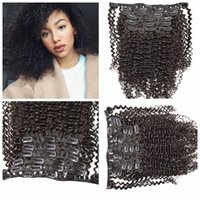 Wholesale Long Wavy Clip Extensions - Hot sale !7pcs Easy Clip in Hair Extension Natural black Long Curly Wavy hair 120g 12-26inch G-EASY