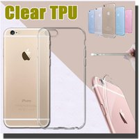Wholesale Silicone Iphone 4s Covers - Ultra Slim Thin Crystal 0.3mm Soft TPU Silicone Transparent Cover Case For iPhone 7 Plus 6 6S SE 5S 4 4S Samsung S8 S7 Edge Free Shipping