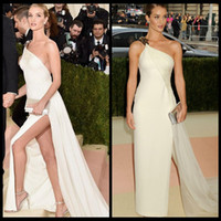 5f378e734dd3 Margot Robbie White Strapless Elegant Prom Dresses Long Met Gala 2017 Red  Carpet Sexy Back Party Gowns