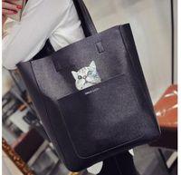 Wholesale Black Cat Artworks - The trend of new handbag bag 2017 Korean fashion tide bangalor cat bag Crossbody Bag printing picture in portable tide