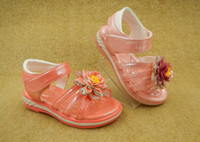 Wholesale Girl Shoes Size 31 - 2016 Carton Flower children's shoes Girls Sandals lovely little and big girls shoes with diamond Size 20-31 1 lot = 6 pairs