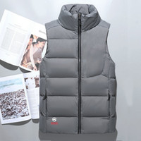 Wholesale cotton duck vest - Fashion Classic brand Men winter down vest feather weskit jackets mens casual down vests coat mens jacket size:M-XXL