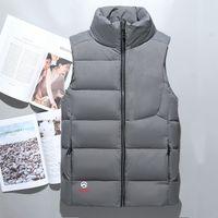 Wholesale Feather Vests - Fashion Classic brand Men winter down vest feather weskit jackets mens casual down vests coat mens jacket size:M-XXL