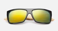 kunstgläser aus holz großhandel-Mode Bambus Bunte Sonnenbrille Männer Frauen Ourdoor Vintage Sonnenbrille Retro Drive Brille Holz Gläser Kunst Handwerk Brillen