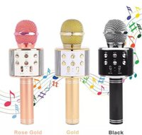 WS858 Microfono senza fili Bluetooth HIFI Altoparlante Condensatore Magic Karaoke Player MIC Speaker Registra musica per tablet Android Iphone PC caldo