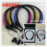 Wholesale active apple - HBS-850 HBS850 Premium Wireless Headphone Super Bass Bluetooth Sports Neckband Tone Active Stereo Headsets In-ear Earphone HBS800 HBS900