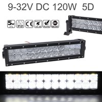 12 pouces 120W Car LED Worklight Bar 24x 5D CREE Chips Combo Offroad Light Driving Lampe pour camion SUV 4X4 4WD ATV CLT_42T