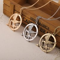 Wholesale Mockingjay Hunger Games Pendant - The Hunger Games Necklaces Inspired Mockingjay And Arrow Pendant Necklace, Authentic Prop imitation Jewelry Katniss Movie In Stock