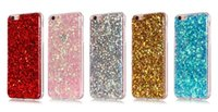 Wholesale Transparent Glue Iphone Case - Luxury Bling Sparke Glitter Soft TPU Glue Silicone Case For Iphone 7 4.7 7Plus Plus 5.5 6 6S Shining Sparking Gel Powder Shinny Cover Skins