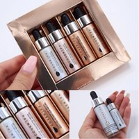 mini resaltadores al por mayor-Mini Cover FX Custom Enhancer Gotas Rostro Highlighter Powder Makeup Set Glow 4 colores 4.5 ml Liquid Highlighters