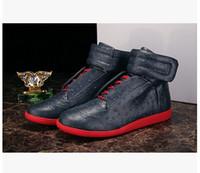 botas modelo superior venda por atacado-Margiela Martin Margiela Sapatos da moda com sapatos de alta-top de couro modelos de moda estrela calçados esportivos mulheres e homens bota frete grátis