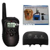 Wholesale Extra Shock Collar - 2014 New arrival H-i98 for One Dog Waterproof Dog training Collar Anti Bark Shock pet Trainer Upgrade 998DR Free Shipping 20pcs