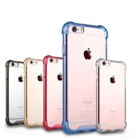 Wholesale Premium Skin Case - [Clear Series] Air Cushion [Shock Absorption] Premium Flexible Soft TPU Bumper Hard Plastic Back Skin Cover Case for iPhone 5s 6 6s 7 Plus