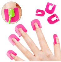 Wholesale Manicure Protectors - Bittb 26pcs Set Nail Polish Varnish Protector Holder Manicure Finger Nail Art Design Tips Cover Shield Tools Uv Gel Nails Design