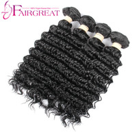 Wholesale Human Hair Extentions Cheap - Brazilian Human Hair Extentions Double Wefts Malaysian Human Hair Deep Wave 100g Pc Cheap Natural Wavy Deep Wave Hair Weave