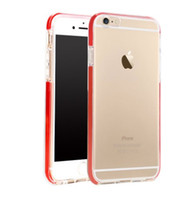 iphone air 5.5 al por mayor-Nuevo para iphone6 4.7 5.5 transparente suave TPU caso de la cubierta transparente con bolsa de aire para iphon6 6 más