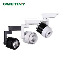 Vente en gros- UMETINY 15W 20W 30W 36W LED COB Downlights Lampe sur rail 360 Rotation Projection LED Down Light Lampes Spot intérieur DownLight Bulbs