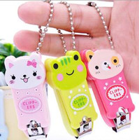 Wholesale Wholesale Baby Nail Clippers - Creative Cartoon Baby Nail Clipper New Cute Children's Nail Care Cutlery Scissors Animal Infant Nail Clippers with Keychain Wholesale Sale