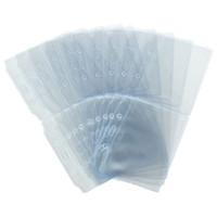 Wholesale Plastic Invitations - Wholesale-20pcs set New PVC Plastic Clear Pockets Wallet ID Card Pass Badge Holder Bag Ticket Invitations Pouch Accessories 9.5cm x 7.8cm