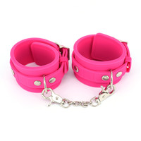 Wholesale Handcuffs Pink - Handcuffs Pink Wrist Cuffs Silicone Fetish Bondage Restraints Femdom Slave Hand Cuffs Sex Toys for Couples Adult Games BDSM Sex Products