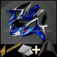 gsx r plasticos al por mayor-23colors + 8Gifts GSXR 600 GSXR750 2006 2007 azul blanco Body Kit Carenado para Suzuki GSXR600 07 GSXR750 06 GSX R 600 750 06 07 K6 ABS Plástico
