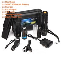 Wholesale Cree Zoomable Rechargeable Car - ALONEFIRE X801 CREE XML T6 LED 3800LM Zoomable tactical Flashlights torch +26650 Battery usb charge Car rechargeable flashlight