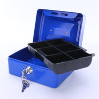 Wholesale mini lock box online - Safe Small Coin Piggy Bank Locks Mini Safe Deposit Box Multi Function Metal Storage Boxes Portable Handle Organizer sx KK