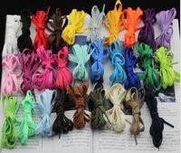 Wholesale Cm C - Express Free shipping 1000pairs 120*0.8 cm Flat Shoe Laces Shoelaces shoelace 25 colros for choice ,1pair=2pcs