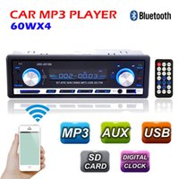 New 12V Autoradio BLUETOOTH Autoradio 1-Din Stereo-FM USB / SD AUX Audio-MP3-Player in Dash 60Wx4 für $ 18NO Spur Telefon bestellen
