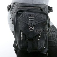 Wholesale Men Shoulder Bag Fanny Pack - New 2016 Steampunk Waist Bags Gothic Shoulder Bags for Women Men PU Leather Material Cheap Outdoor Sports Fanny Packs B9
