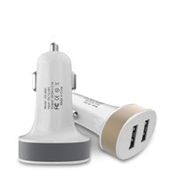 Wholesale amp output - 2017 Best Metal Dual USB Port Car Charger Universal 2 Amp for Apple iPhone iPad iPod Samsung Galaxy Motorola Droid Nokia Htc