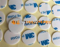 Wholesale Diameter Tape - 1600T PE strong foam double sided adhesive tape no mark hook glue white round 10MM diameters paper tape