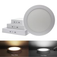 Dimmable 9W 15W 21W 25w Round / Square Led Painel Light Surface montado Led Downlight iluminação Led projector de teto AC 110-240V + Drivers