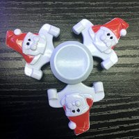 Wholesale Kids Retail Shoes - Metal Santa Claus Christmas shoes Spinners Zinc Alloy Fidget Spinners Merry Christmas Hand Spinner EDC Decompression Fidget Toys SA Only