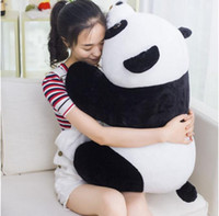 Wholesale Panda Bear Puppet - Panda plush toy doll queen bear hug pillow puppet doll doll Children's Day gift free shipping