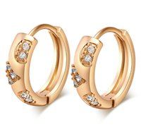 Wholesale Cubic Zirconia Clip Earrings - New Arrival Cute Mini Small Circle Earring Ear Clip Earrings Birthday Gift for Girl Friend Women ER-170