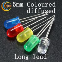 5mm led dioden Dip Led Diffused Licht emittierende led wulst Rundkopf led chip Rot Grün Blau Gelb Orange Lange Bleifrei verschiffen