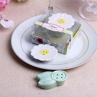 Wholesale Salt Pepper Shaker Flowers - Flower Blossom Ceramic Salt and Pepper Shakers Wedding Favors Birthday Party Gifts