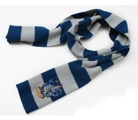 Wholesale Plain Scarve - Hot!New Harry Potter Scarf Gryffindor School Unisex Knitted Striped Scarf Gryffindor Scarve Harry Potter Hufflepuff Scarf Cosplay