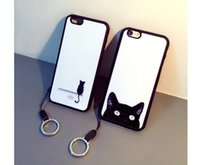 Wholesale Silicone Cases For Iphone China - China supplier Hot Sale protective Couple ring mobile phone cases for iphone 6s 4.7 cases with Lanyard CA1111
