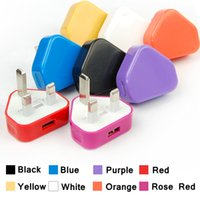 Wholesale Iphone 4s China Wholesale - Colorful For iphone 5 UK Plug USB Charger AC Wall charger usb Power Adapter Charger for iPhone 3 3GS 4 4S 200pcs lot
