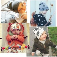 Wholesale Cutest Kids Hat - 2017 New Winter Warm Cotton Cute Toddler Kids Girl Boy Baby Infant Crochet Knit Hat Cap Beanies Accessories MC0442