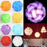 Wholesale Infinity Iq Puzzle Light - DIY Modern Pendant Ball novel iq lamp puzzle pendants white color pendant lights size 25cm 30cm 40cm Infinity lamp 9 colors available ZJ0606