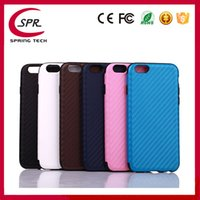 Wholesale Cheapest Water Resistant Phone - Cheapest! Carbon Fiber Cover Cases For iphone 7 7plus 6 6plus 5 Protector Waterproof Phone Cover Shell Free Shipping 10pcs new arrival