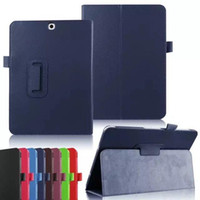 Wholesale Galaxy S Flip Cover - Magnetic Stand Flip Folio Leather case for Samsung Galaxy tab E A S2 S T550 T280 T580 T710 T800 T810 T560 T377 cover DHL Free Shipping