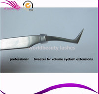 Wholesale Tweezers For Extension - Wholesale-Free shipping 5 pieces stainless tweezers for 0.05 0.06 0.07mm 3D-6D volume eyelash extensions