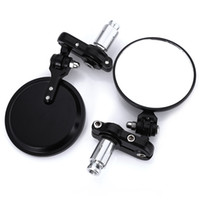 "Wholesale Motorcycle Rear View - SL-001 Universal 1 Pair 2PCS Side View Mirrors 7 8""Round Bar End Rear Mirrors Motorcycle Scooters Rearview Mirror For Handle Bar End Mirrors"