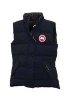 Wholesale Men S Down Vest Jackets - Big raccoon Fur 2017 canada Brand New Women's Freestyle Vest Goose Down Fire Rhinoceros CHATEAU Parka Coat Winter Warm Jacket