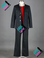 hitman cosplay kostümlerini yeniden doğurdu toptan satış-Ölü Komuro Takashi toptan-Yüksek Okulu Cosplay Siyah Mens Japon Okul Üniforma Ölü Yüksek Okulu Cosplay Kostüm